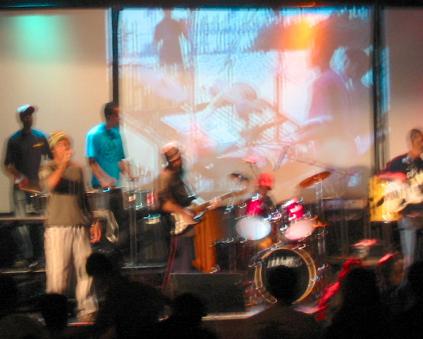 band with projections